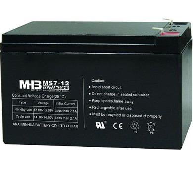 Olověný bezúdržbový akumulátor MHB VRLA AGM 12V/7 Ah MS7-12 (151x65x94mm)