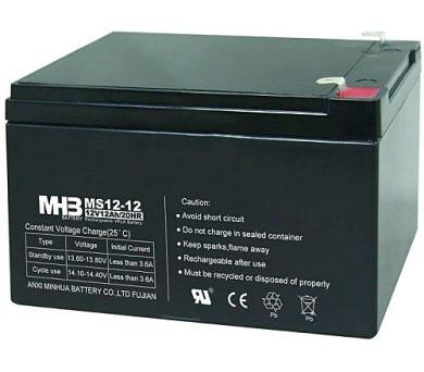 Olověný bezúdržbový akumulátor MHB VRLA AGM 12V/12 Ah MS12-12 (151x98x95mm)