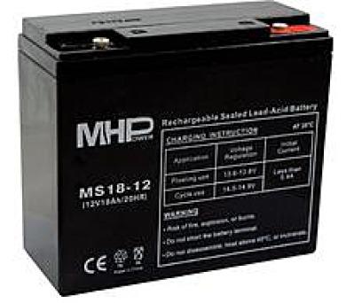 Olověný bezúdržbový akumulátor MHB VRLA AGM 12V/18 Ah MS18-12 (181x77x167mm) + DOPRAVA ZDARMA