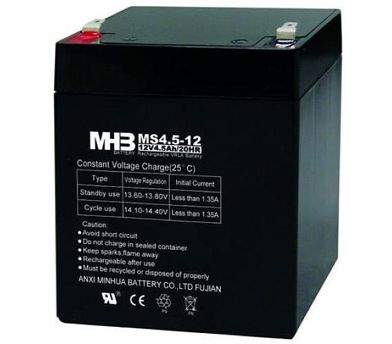 Olověný bezúdržbový akumulátor MHB VRLA AGM 12V/4,5 Ah MS4,5-12 (90x70x101mm)