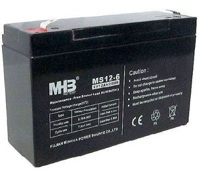 Olověný bezúdržbový akumulátor MHB VRLA 6V/12Ah MS12-6