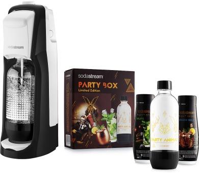 Sada Jet Black & White + Party Box SODA SodaStream + DOPRAVA ZDARMA