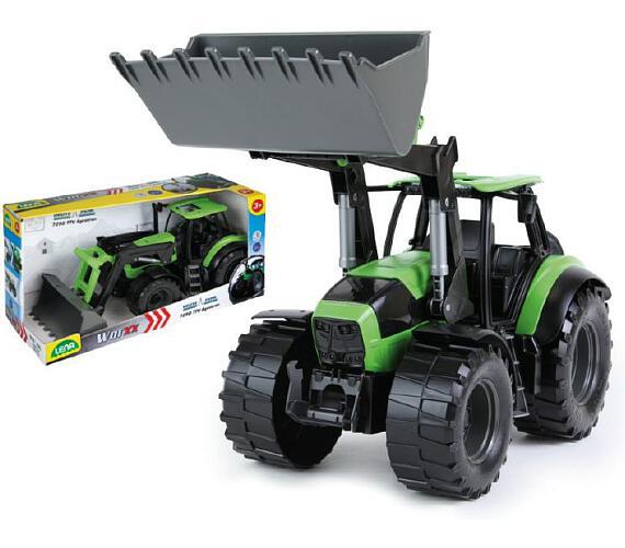 Traktor se lžící Worxx plast 45cm 1:15 v krabici DeutzFahr Agrotron 7250 + DOPRAVA ZDARMA