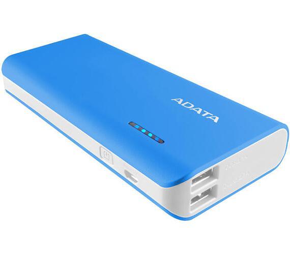 ADATA PT100 Power Bank 10000mAh modrá/bílá (APT100-10000M-5V-CBLWH)