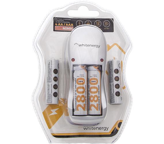 WE Nabíječka pro 4 baterie AA/AAA + 4x AA 2800mAh