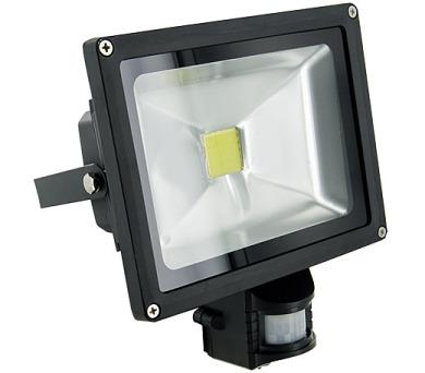 WE LED světlomet venkovní 20W,detektor pohybu,bíla