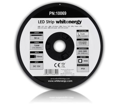 WE LED páska 50m SMD5050 14.4W/m 10mm studená bílá + DOPRAVA ZDARMA