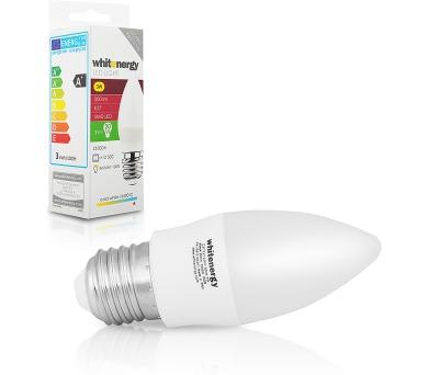 WE LED žárovka SMD2835 C37 E27 3W studená bílá