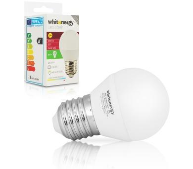 WE LED žárovka SMD2835 B45 E27 3W studená bílá
