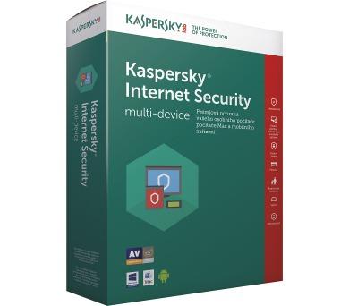 Kaspersky Internet Security MD 2018 / 1 zařízení na 1 rok / PRODLOUŽENÍ Krabice (KL1941OBABR-7CZ) + DOPRAVA ZDARMA