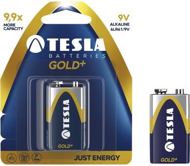 TESLA - baterie 9V GOLD+