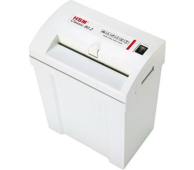 HSM skartovačka 80.2/ formát A4/ velikost řezu 3,9mm/ stupeň utajení (DIN) 2/ cert. NBÚ V