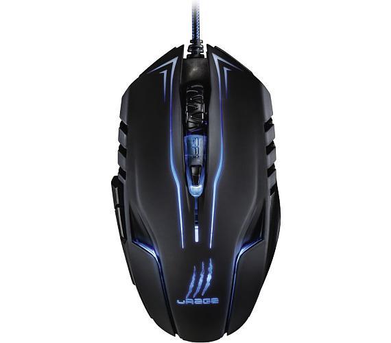 HAMA uRage Reaper Ess gamingová myš/ drátová/ optická/ podsvícená/ 2400 dpi/ 6 tlačítek/ USB/ černá (113747)