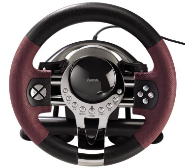 HAMA sada volantu a pedálů Thunder V5/ pro PC + PS3/ USB/ černá-červená-kovová + DOPRAVA ZDARMA