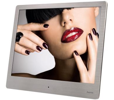 """HAMA LED digitální fotorámeček Steel Basic/ 20,32 cm (8"""")/ 4:3/ SD/SDHC/MMC/ stříbrný"""