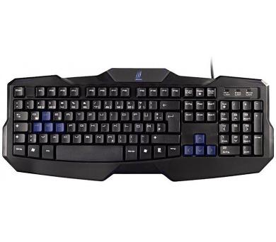 HAMA uRage gamingová klávesnice Exodus2/ drátová/ podsvícená/ USB/ CZ+SK/ černá (113728)