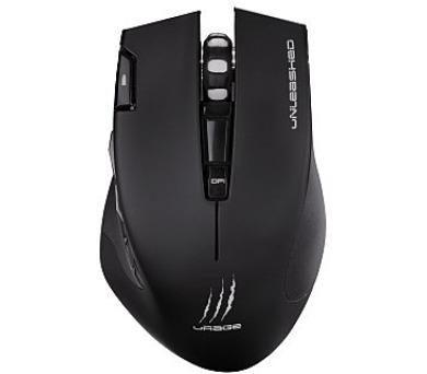 HAMA uRage Unleashed gamingová myš/ bezdrátová/ optická/ podsvícená/ 4000 dpi/ 7 tlačítek/ USB/ černá (113733)
