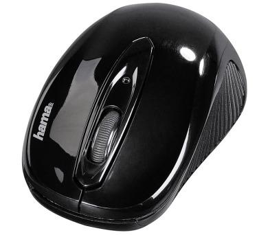 HAMA myš AM-7300/ bezdrátová/ optická/ 1000 dpi/ 3 tlačítka/ USB/ černá (86537)