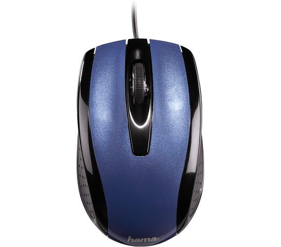 HAMA myš AM-5400/ drátová/ optická/ 800 dpi/ 3 tlačítka/ USB/ metalická modrá