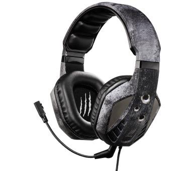 HAMA uRage SoundZ Evo gamingový headset/ drátová sluchátka + mikrofon/ USB/ citlivost 92 dB/mW/ černo-šedý (113737)