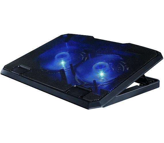 """HAMA chladící stojan pro notebook Black/ 13,3"""" až 15,6""""/ USB/ LED podsvícení/ černý (53065)"""