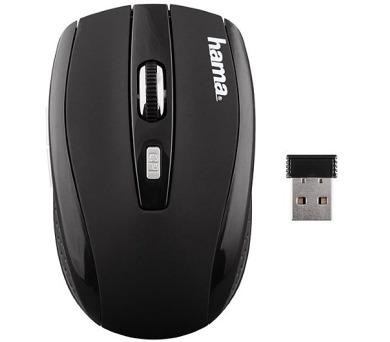 HAMA myš AM-7800/ bezdrátová/ optická/ 1200 dpi/ 5 tlačítek/ USB/ černá