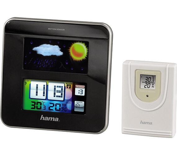 HAMA meteostanice Color EWS-1200/ černá + DOPRAVA ZDARMA