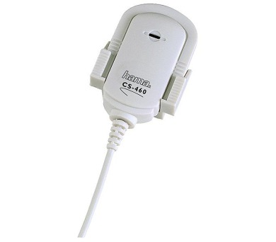 HAMA mikrofon MicroClip CS-460/ 3,5 mm jack/ 2,4m/ bílý