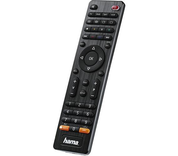 HAMA univerzální dálkový ovladač 4v1/ pro více než 1000 značek/ SMART TV/ černý