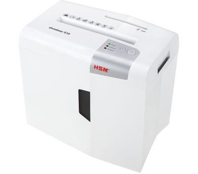 HSM skartovačka ShredStar S10/ formát A4/ velikost řezu 6mm/ stupeň utajení (DIN) 2/ bíá + DOPRAVA ZDARMA