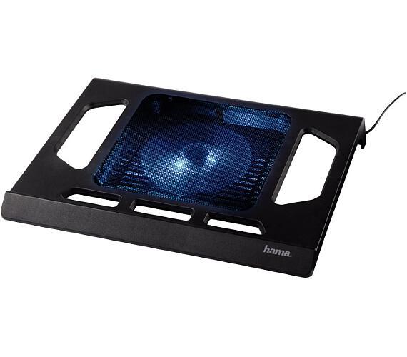"""HAMA chladící stojan pro notebook/ do 17,3""""/ USB/ LED podsvícení/ černý (53070)"""
