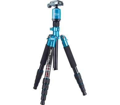 Rollei Stativ Compact Traveler No. 1 + Hlava FPH-53P/ Zátěž 5kg/ Vytažený 140cm/ Modrý