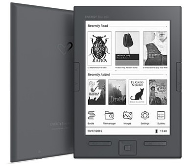 "ENERGY eReader Slim HD (6"" HD e-ink Carta 758x1024"