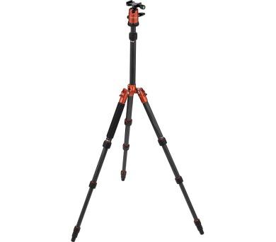 Rollei Compact Traveler No 1 Carbon/ Zátěž 8kg/ Vytažený 142 cm/ Karbon/ Oranžový + DOPRAVA ZDARMA