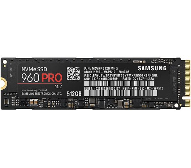 Samsung SSD 960 PRO 500GB M.2 NVMe 1.1
