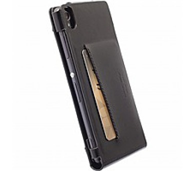 Krusell kožené pouzdro KALMAR WALLETCASE pro Sony Xperia M4 Aqua/M4 Aqua Dual