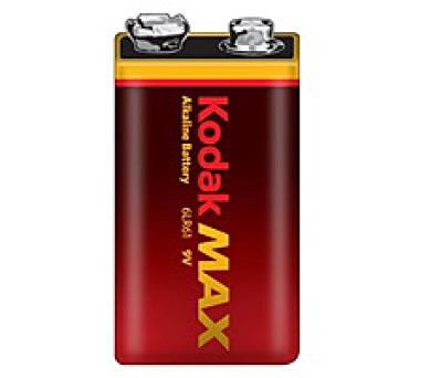 KODAK MAX alkalická baterie 9V; 1ks