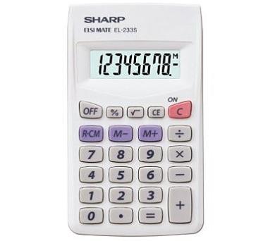 SHARP kalkulačka - EL-233S - černá