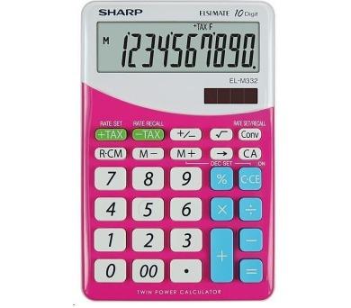 SHARP kalkulačka - EL-M332BPK - růžová (SH-ELM332BPK)