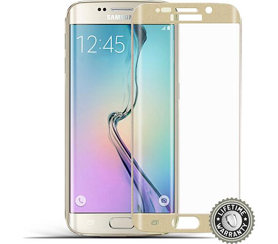 Screenshield™ SAMSUNG G925 Galaxy S6 Edge Tempered Glass protection (Gold) + DOPRAVA ZDARMA