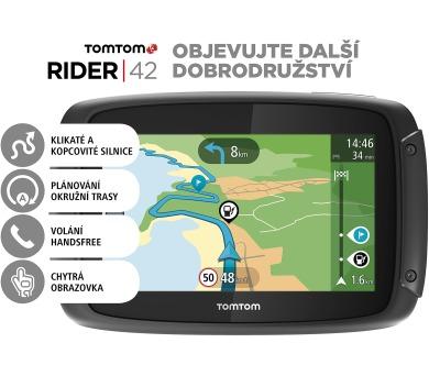 TomTom Rider 42 CE19 pro motocykly + DOPRAVA ZDARMA