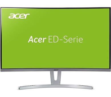Acer LCD ED273wmidx 27'' LED Curved/1920x1080/100M:1/4ms/250nits/VGA/DVI/HDMI/repro 2x3W/Acer EcoDisplay/Silver (UM.HE3EE.005)
