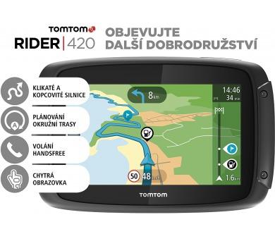 TomTom Rider 420 EU pro motocykly + DOPRAVA ZDARMA