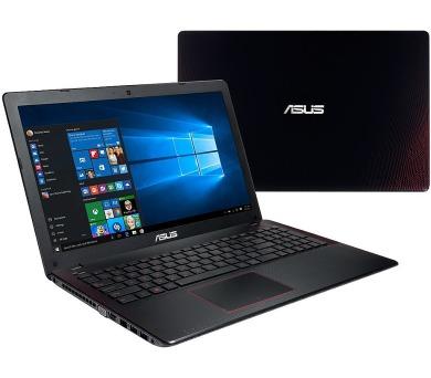 "ASUS F550VX-DM587T i7-7700HQ/8+8GB/256GB SSD M.2 + 1TB 5400 ot./GeForce 950M/15,6"" FHD LED matný/Win10/black + DOPRAVA ZDARMA"