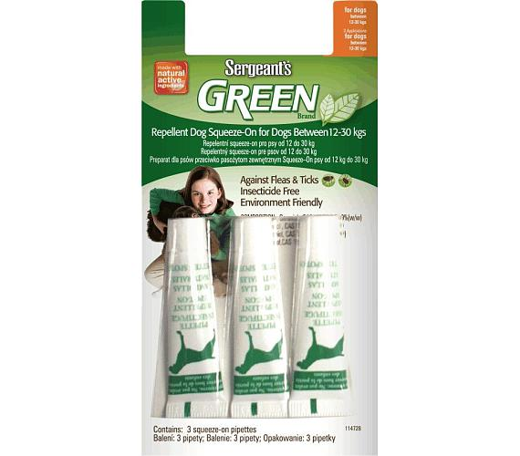 Sergeanťs Green Spot-on pro psy do 12-30kg 3x3 ml