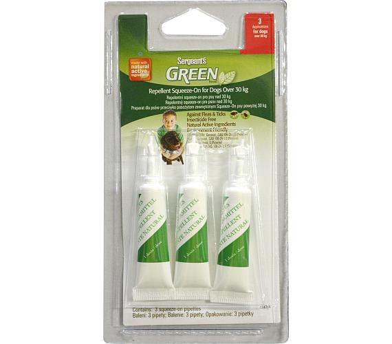 Sergeanťs Green Spot-on pro psy nad 30kg 3x5 ml