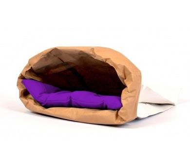 Pelech cat papír+textil Polštář fialový EBI 44 x 28 x 3 cm