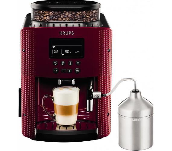 Krups EA816570 Pisa Red + XS6000 Autocappuccino + DOPRAVA ZDARMA
