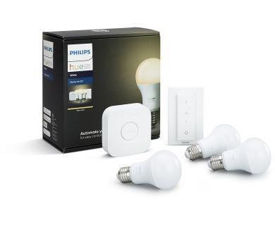 Starter kit E27 White A60 3 set + switch Philips 8718696728987