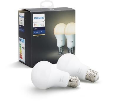 Single bulb E27 White A60 2Pack Philips 8718696729113